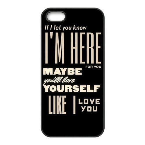 Perfect New 2015 Best New Design One Direction Quotes Cell Phone Plastic Hard Case  Cover For Iphone