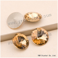 YANRUO #1122 6 8 10 12 14 16 18mm Lt. Col. Topaz Fancy Pietre di Cristallo di Bellezza diamante Forma Rivoli Pointback strass