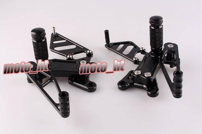 Motorcycle Rearsets CNC Adjustable Rear Foot Pegs Footrest For For Honda CBR954RR CBR929RR 2000 2001 2002 2003,Black