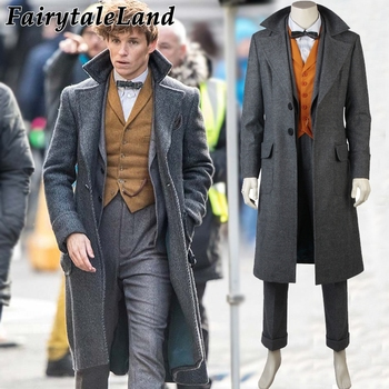 Fantastic Beasts The Crimes of Grindelwald Newt Scamander Cosplay Costume Halloween Costumes Cosplay Suit Newt Scamander
