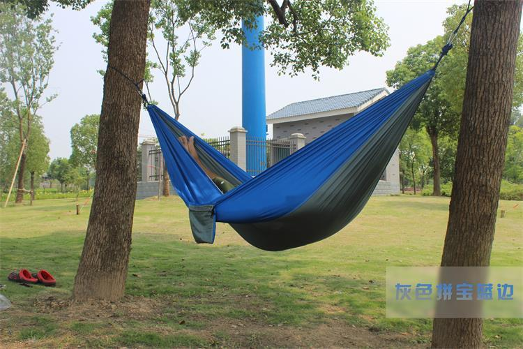 2 people Hammock 16 Camping Survival garden hunting swing Leisure travel Double Person Portable Parachute outdoor furniture 13