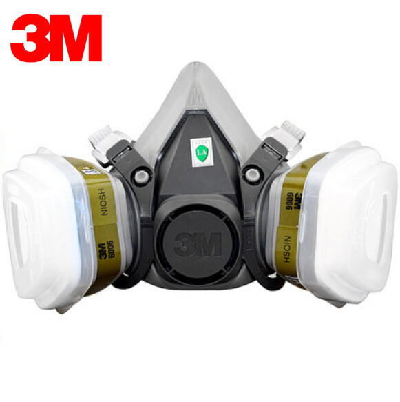 3M 6300+6006 Respirator Half Face Mask Renovated Laboratory Formaldehyde Gas Masks Protective Masks 7 Items for 1 Set R82027 3m 6300 6001 respirator half face mask painted against organic vapor gas cartridges 7 items for 1 set lt013