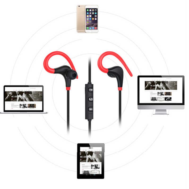 Bezprzewodowe słuchawki sportowe Bluetooth Mini zestaw słuchawkowy Bluetooth z mikrofonem słuchawki do iphone'a wszystkie Smar