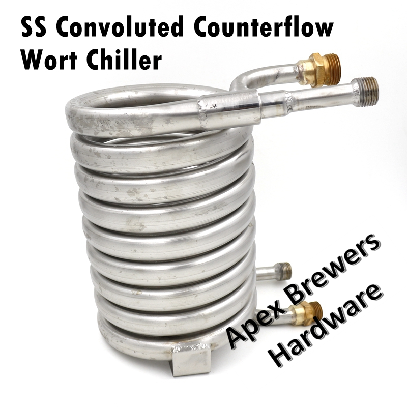 Stainless Counterflow Wort Chiller Heat Exchanger SS304 Brewing Equipment Wort Chiller