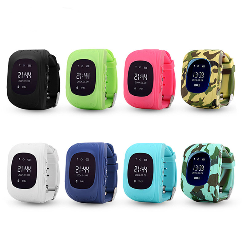 2019 New <font><b>Q50</b></font> Smart Safe OLED Kids' <font><b>GPS</b></font> Watch SOS Call Wristwatch Child Finder Locator Tracker Baby Anti Lost Monitor SeTracker image