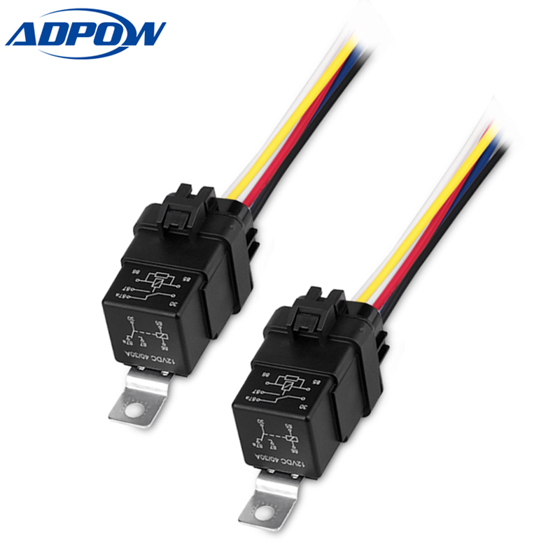 Adpow 5pcs New Fused On  Off Car Motor Automotive Fused