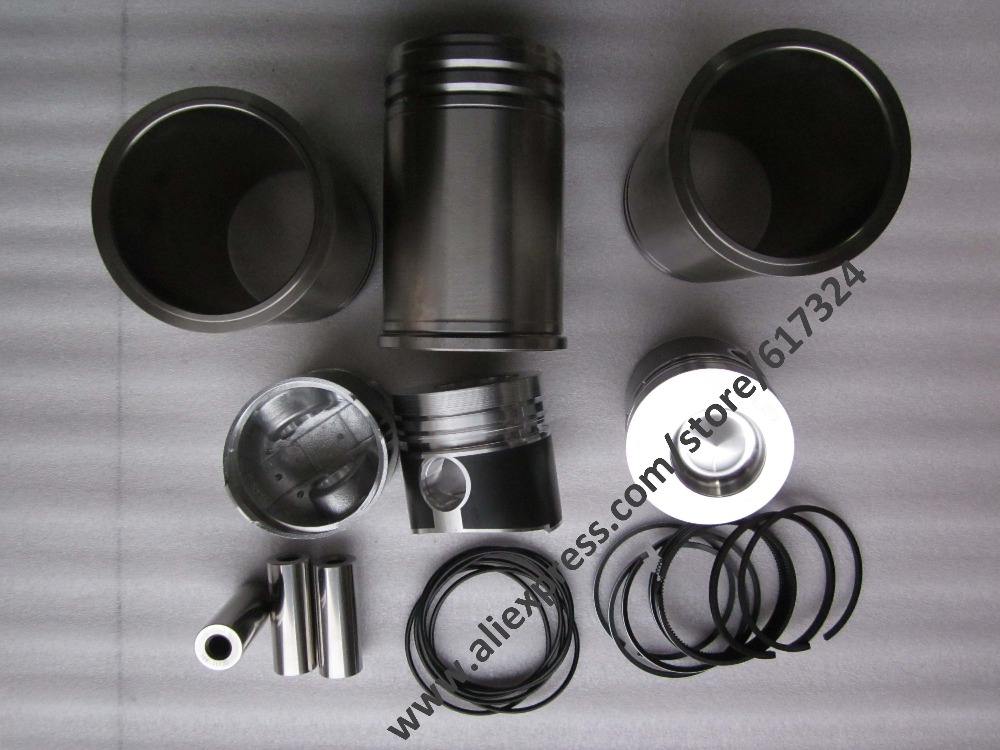 Changchai ZN390BT, the set of piston group, including the piston, piston pin, piston rings, circlips and water sealing rings parts for changchai zn490q engine gasket piston rings cylinder liner main bearings water temp sender water pump pistons