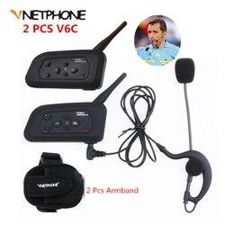Vnetphone 2 PC V4C 1200 m pełnego dupleksu bezprzewodowy domofon bluetooth zestaw słuchawkowy jazdy na nartach jazda na rowerze piłka nożna sędzia BT Interphone słuchawki + FM
