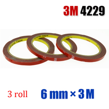 3M Scotch Double Sided Super Sticky Adhesive Tape Roll Auto Truck Essential 6mm