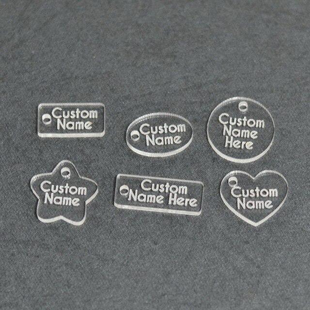 300pcs lot Custom Jewelry Tags Laser Cut Acrylic Tags Custom Plastic Tags  for Accessories bdd75e0e999f