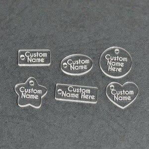 300pcs/lot Custom Jewelry Tags Laser Cut