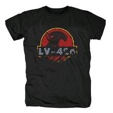 Летняя футболка кровоhoof с принтом инопланетянина, парка Юрского периода, Мужская хлопковая футболка с коротким рукавом, топы унисекс, Футболка NWT