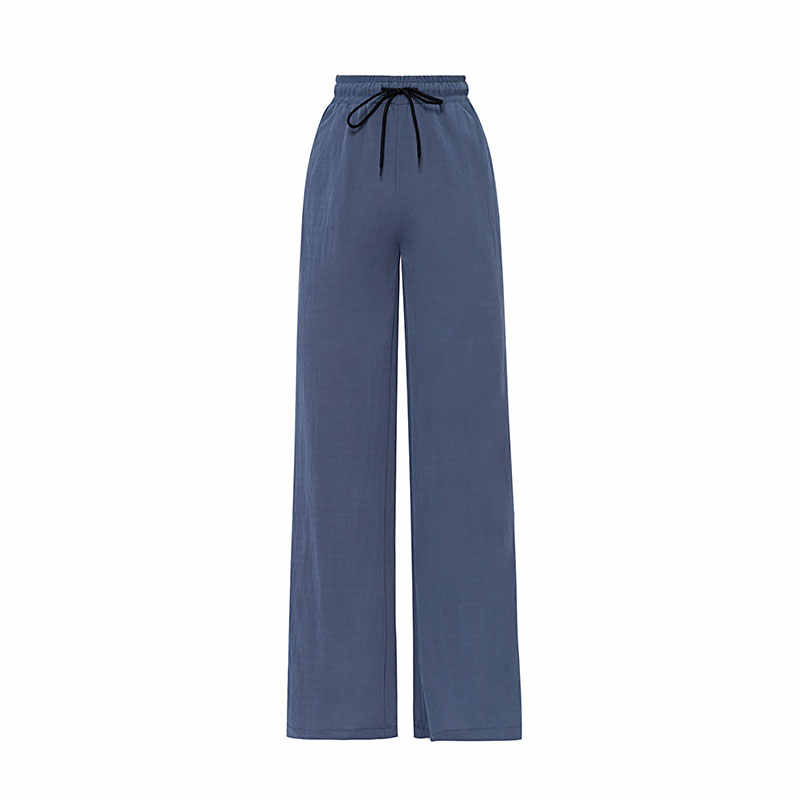 2019 Zomer Joggers Vrouwen Hoge Taille Lace Up Full Length Running Broek Elastische Taille Sport Palazzo Broek Plus Size Joggingbroek