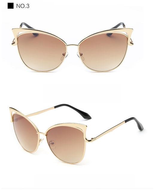 Luxury Cat Eye Sunglasses Women Brand Designer Retro Vintage Sun Glasses For Women Female Ladies Sunglass Mirror Lunettes Oculos (14)