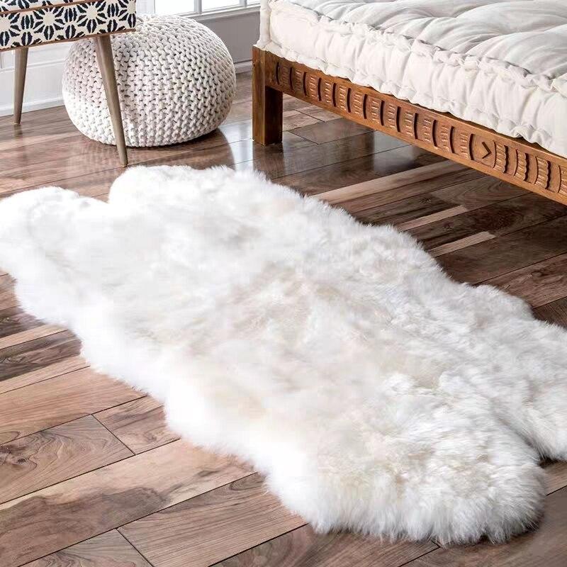 Aozun טבעי כבש שטיח קווארטו 100 * 200cm שאגי - טקסטיל בית