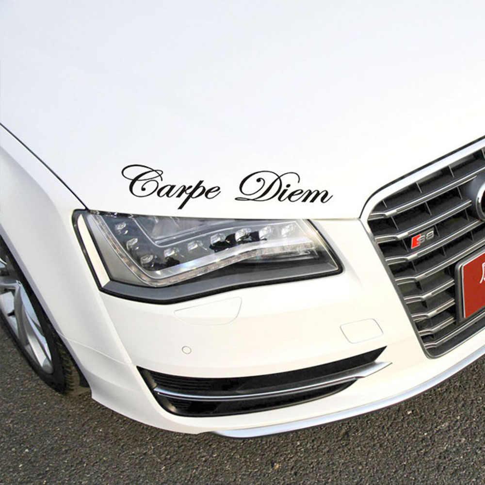 1 PC Carpe Diem voiture autocollants vinyle voiture style Art autocollant créatif voiture fenêtre corps lettrage décalcomanie décor bricolage accessoires goutte