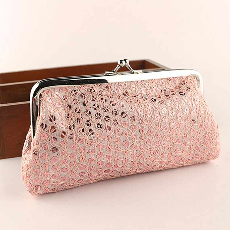 New coin purse Women Lovely Style Lady Wallet Hasp shiny Sequins Purse Clutch Fashion wallets Carteira Feminina