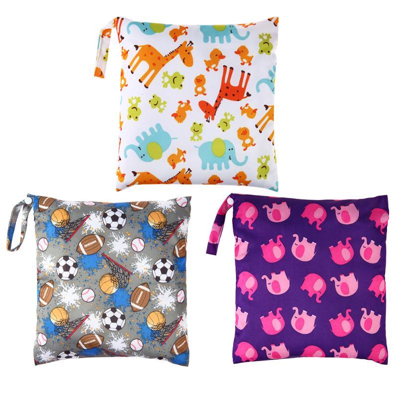 Woman Waterproof Messenger Bag  Baby Snap-fastener Diaper Bag Cartoon Printed Single Zipper Waterproof Bag Stroller Accessories