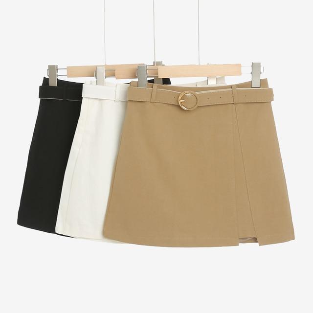 MingJieBiHuo A word package hip skirt spring and summer new Korean fashion ladies was thin irregular slit women girls skirt 4