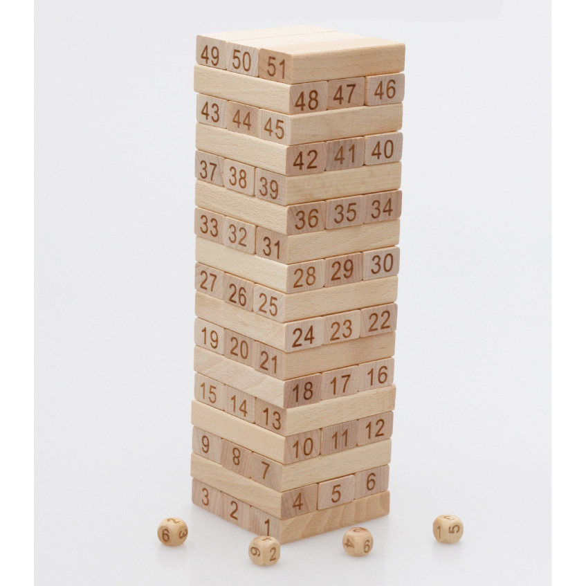 Wooden Multifunction Tower Wood Building Blocks Toy Domino Stacker Extract Building Educational Game Montessori Gift advanced wooden tower digital blocks toy vegetables domino stacker extraction montessori educational jenga family games oyuncak