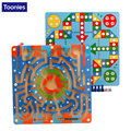 Wood Magnetic Maze Game Magnetic Pen Labyrinth Board Chess Intelligence Games Early Childhood Learning Education Toys