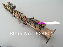Wholesale sales soprano saxophone B red tan the straight pipe surface