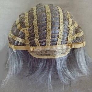 Image 5 - HAIRJOY Peluca de Geralt of Rivia de Witcher, Cosplay blanco y plateado, disfraz largo y recto, pelo sintético, Envío Gratis