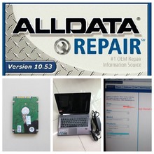 Auto repair software all data 10.53 alldata and mitchell software 2015 hdd installed in new laptop 4gb z485 full set