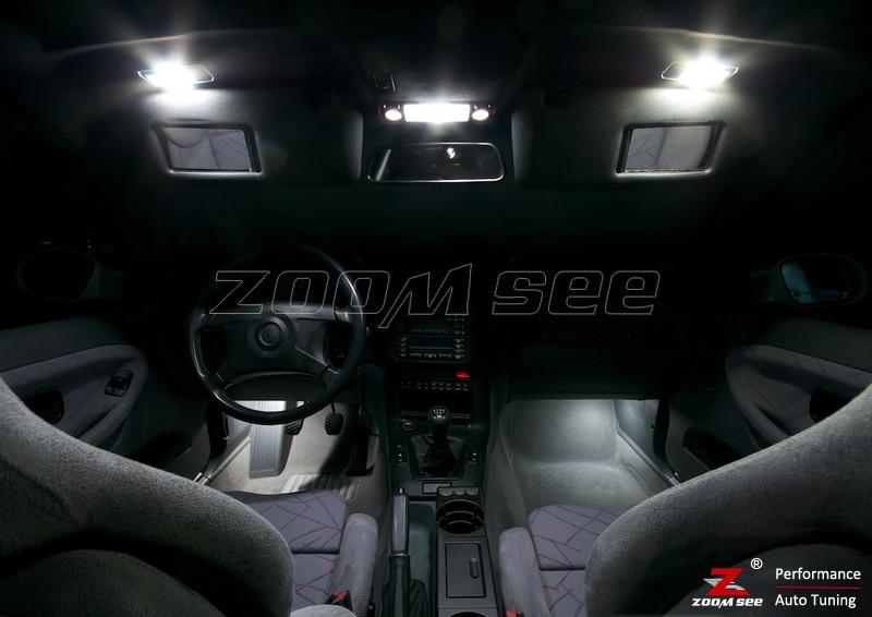 11x светодиодный номерной знак+ внутренняя лампа для чтения комплект для bmw 3 серии E36 Кабриолет M3 318i 320i 325i 323i 328i(1993-1999