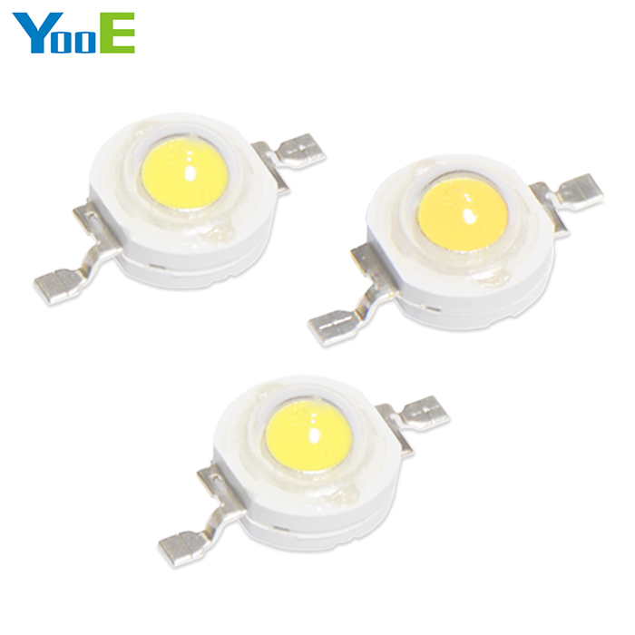 YooE 100Pcs/lots DIY High Power LED Spotlight Bulb Downlight 1W light chip Diodes SMD LED lamps smd diodes set for diy project black 180 pcs
