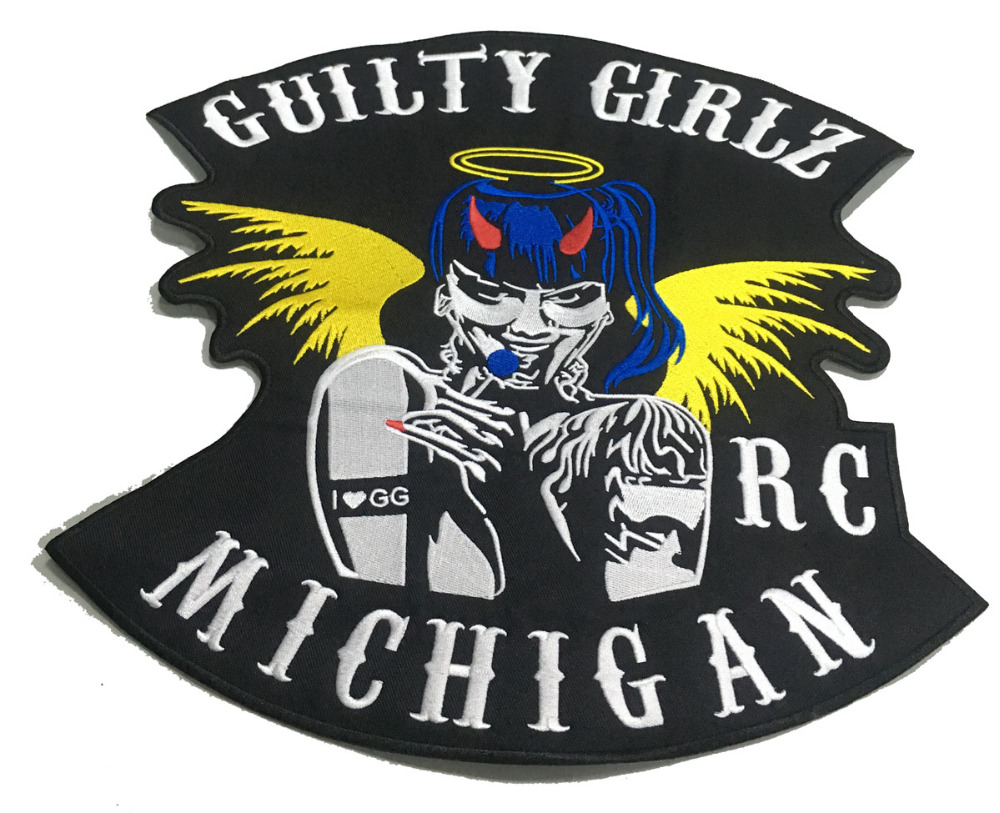 LTY GIRLSBIKER RC MICHIGAN MOTORCYCLE CLUB PATCH (4)