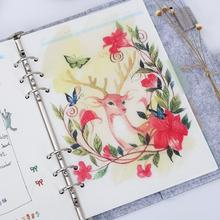 5 sheet/lot A5 A6 Elk Frosted Planner's Inner Pages Spacer Plate Diario Binder Planner Concise Filler Paper PP 6 Holes Separator