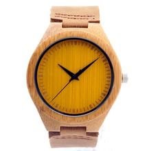 Colorful Natural Bamboo Wood Watches