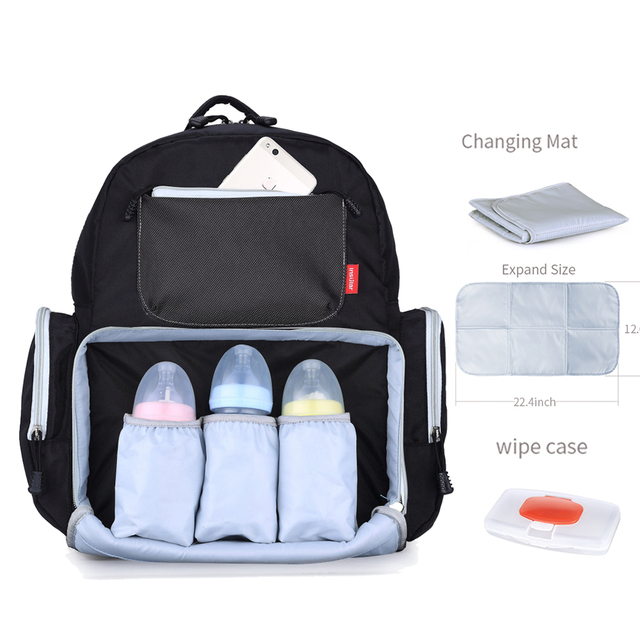 4453db0f9 Mommy Maternity Nappy Bag Brand Baby Care Bags Dad Waterproof Travel  Backpack Fashion Nursing Diaper Bag Kit for Mom New