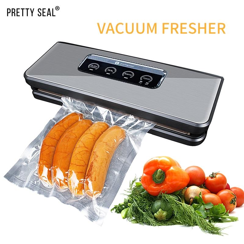 PRETTYSEAL 220 V 240 V Haushalt Lebensmittel Vakuum Versiegelung Verpackung Maschine Film Sealer Vakuum Packer Einschließlich 5Pcs Taschen-in Frischhaltefolie & Plastiktüten aus Heim und Garten bei  Gruppe 2