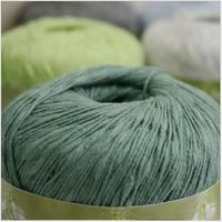 Free shipping 300g(50g*6pcs)100%Cotton Pearl Cotton Spring Summer Bamboo Cotton Crochet Pure Cotton Thread Baby Yarn