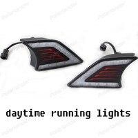 ホット販売drlデイライト自動車部品カースタイリングdaytmeランニングライト� /oyota v/igo 2012-2015フォグランプ