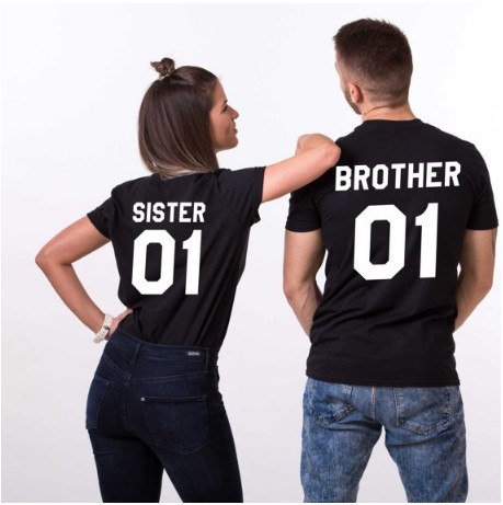 1a05621a SISTER BROTHER 01 unisex graphic Tees Women men Fashion clothes T-shirt  Tumblr shirts hipster t shirts Tops streetwear tshirts