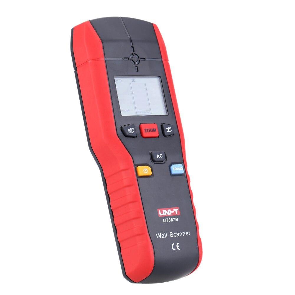 UT387B détecteur mural Portable détecteurs de métaux muraux multifonction bois AC détecteur de câbles Scanner pour la rénovation de la décoration de la maison