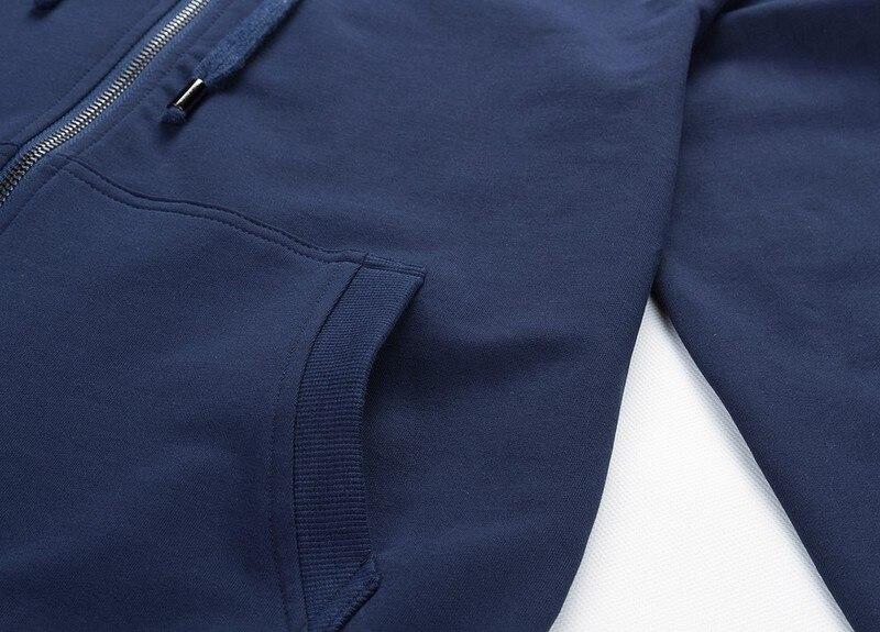 2019 модные толстовки с капюшоном Для мужчин Толстовка Топ пуловер Блузка Hombre хип хоп Для мужчин s Черный Толстовка с капюшоном на молнии Slim Fit ... - 4