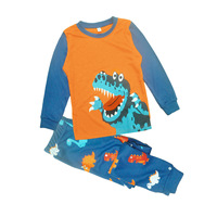 2017 Kids Halloween Clothes Sets For Boys Monster Dinosaurs Print Long Sleeve T Shirts Pants Children