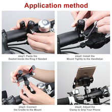 Bike Bicycle Metal Holder for Mobile Phone Adjustable Handle Phone Mount for iPhone for Huawei