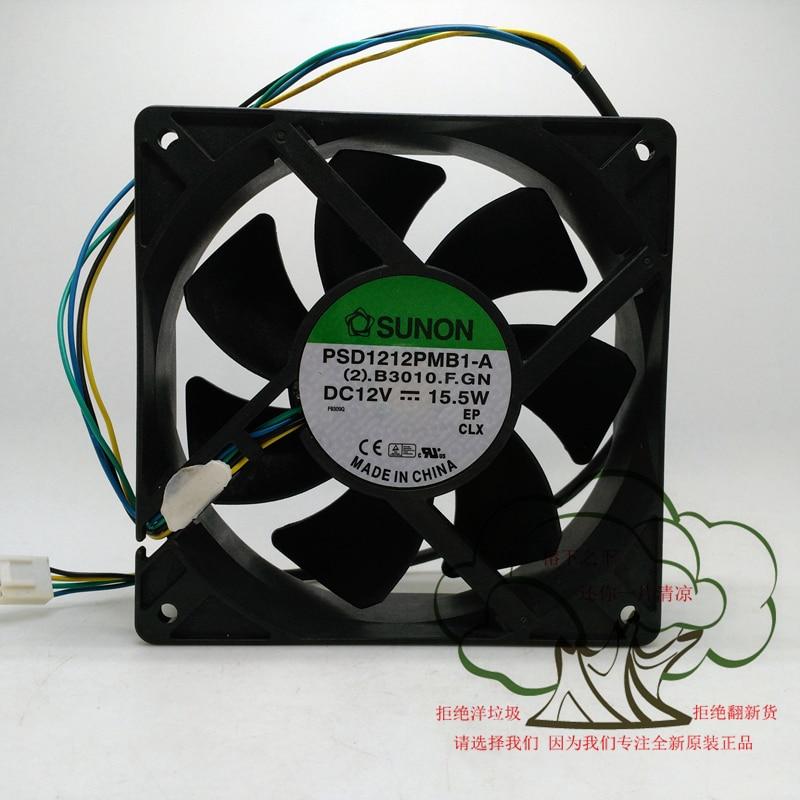 New Original SUNON PSD1212PMB1 A DC12V 15 5W 120 120 38MM 12CM Computer font b server