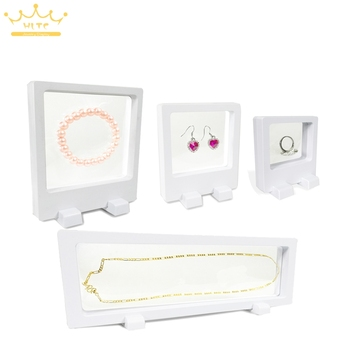 Black White Acrylic Necklace Display Stand Pendant Display Holder Jewelry Display Stand Earring Display PET Membrane Watch Box