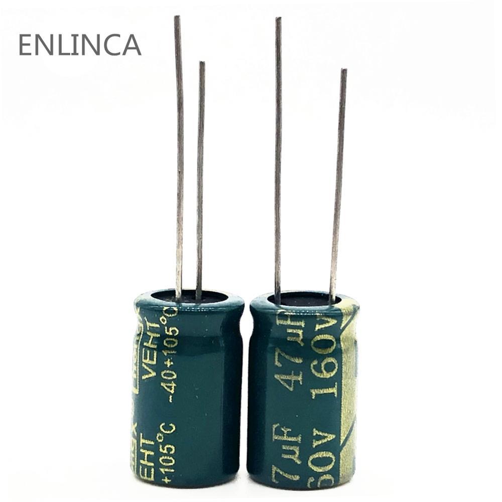 30pcs/lot S84 160v 47UF Aluminum Electrolytic Capacitor Size 10*17 47UF 20%