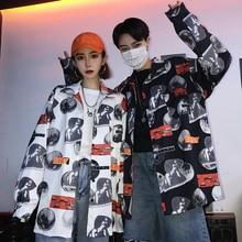 8b97f839a Outono plus size ulzzang casal coreano Roupas das Mulheres do vintage Harajuku  BF disco completo Textura