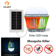Electronics Mosquito Killer Lamp LED Bug Zapper Solar Powered Bug Zapper Mosquito killer Electronic Camping Mosquito Trap Killer