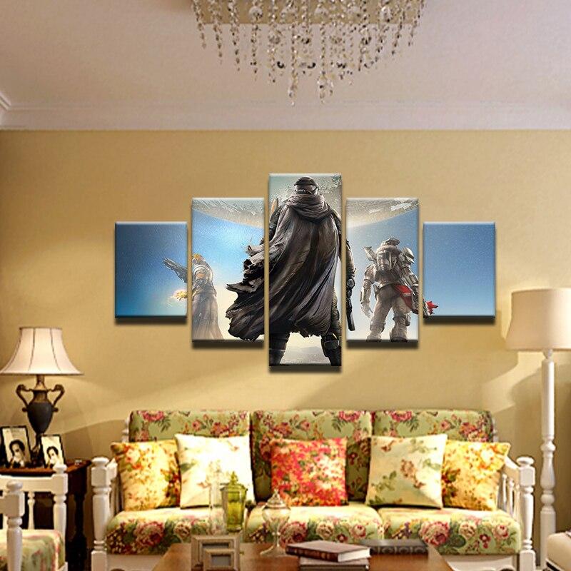 2019 Mode 5 Stuks Game Poster Halo 4 Poster Canvas Schilderij Decoratie Home Decor Voor Woonkamer Hd Canvas Gedrukt Pictures
