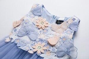 Image 3 - Cielarko Kids Girls Flower Dress Baby Girl Butterfly Birthday Party Dresses Children Princess Fancy Ball Gown Wedding Clothes