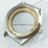 watch parts 41mm Sliver Steel Case Fit ETA 2836 Mingzhu/DG 2813/3804 Miyota 8205/8215 P873 Watch Cases     -